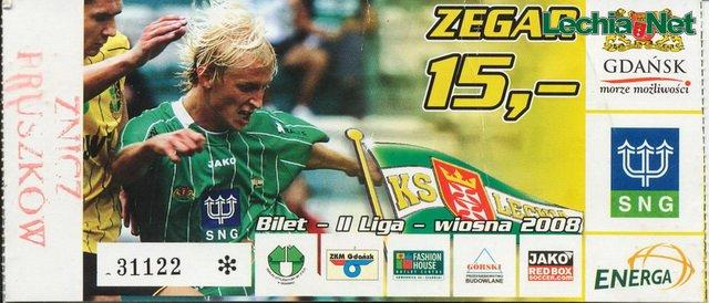 Bilet z meczu Lechia-Znicz Pruszków