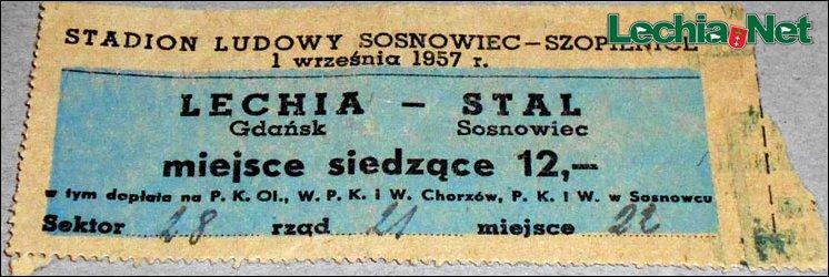 bilet z meczu Lechii