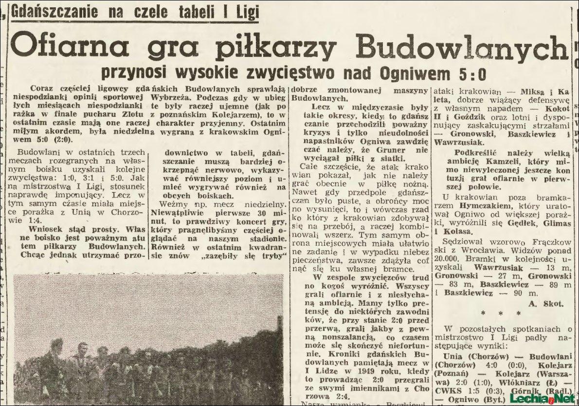 Artykuł prasowy z meczu Lechia Cracovia