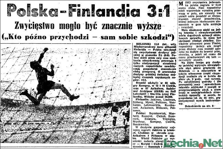 1955.09.12.Polska-Finlandia 3:1