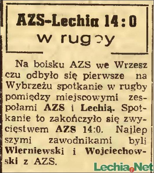 1956.06.23.Pierwszy mecz rugby na Wybrzeżu