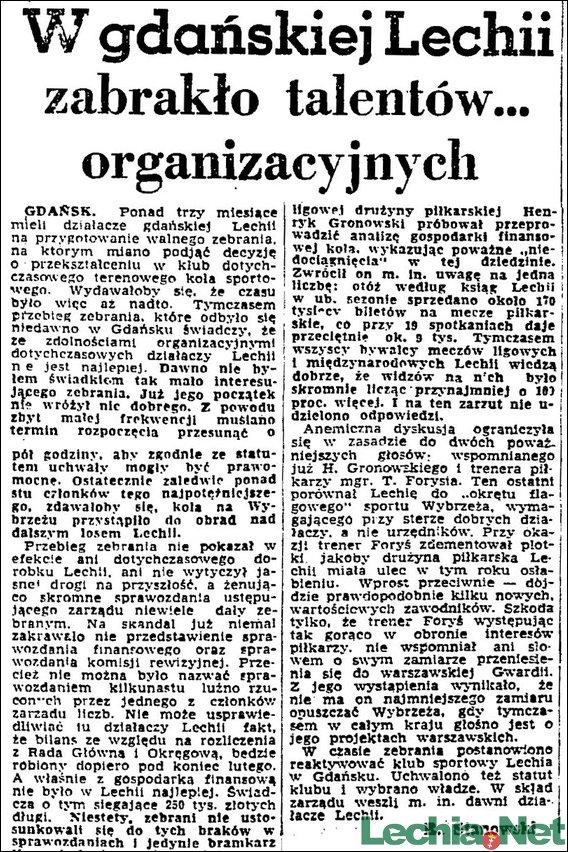 1957.02.07.W gdańskiej Lechii zabrakło talentów... organizacyjnych