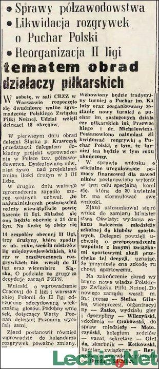 1957.02.19.Likwidacja rozgrywek o Puchar Polski