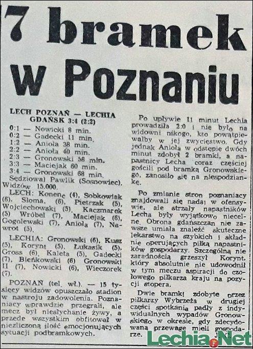 Relacja prasowa z meczu Lech Poznań-Lechia Gdańsk