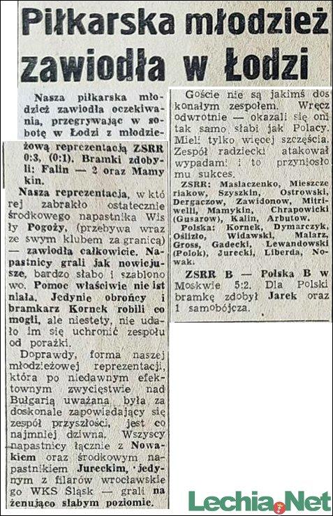1957.10.21.Piłkarska młodzież zawiodła w Łodzi
