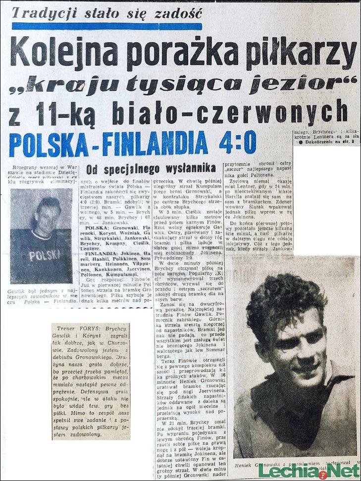 1957.11.04.Polska-Finlandia 4:0