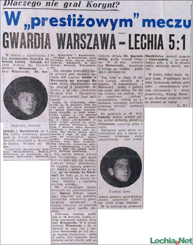 1958.04.21.W prestiżowym meczu Gwardia Warszawa-Lechia 5:1