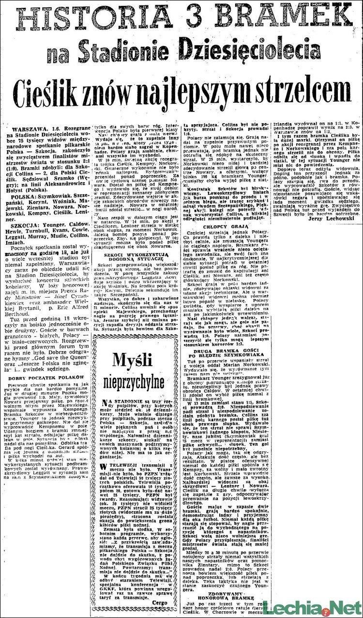 1958.06.02.Historia 3 bramek na Stadionie Dziesięciolecia