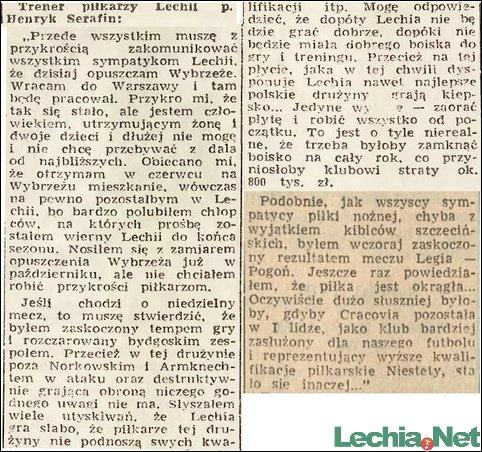 1959.11.17.Trener Serafin opuszcza Wybrzeże