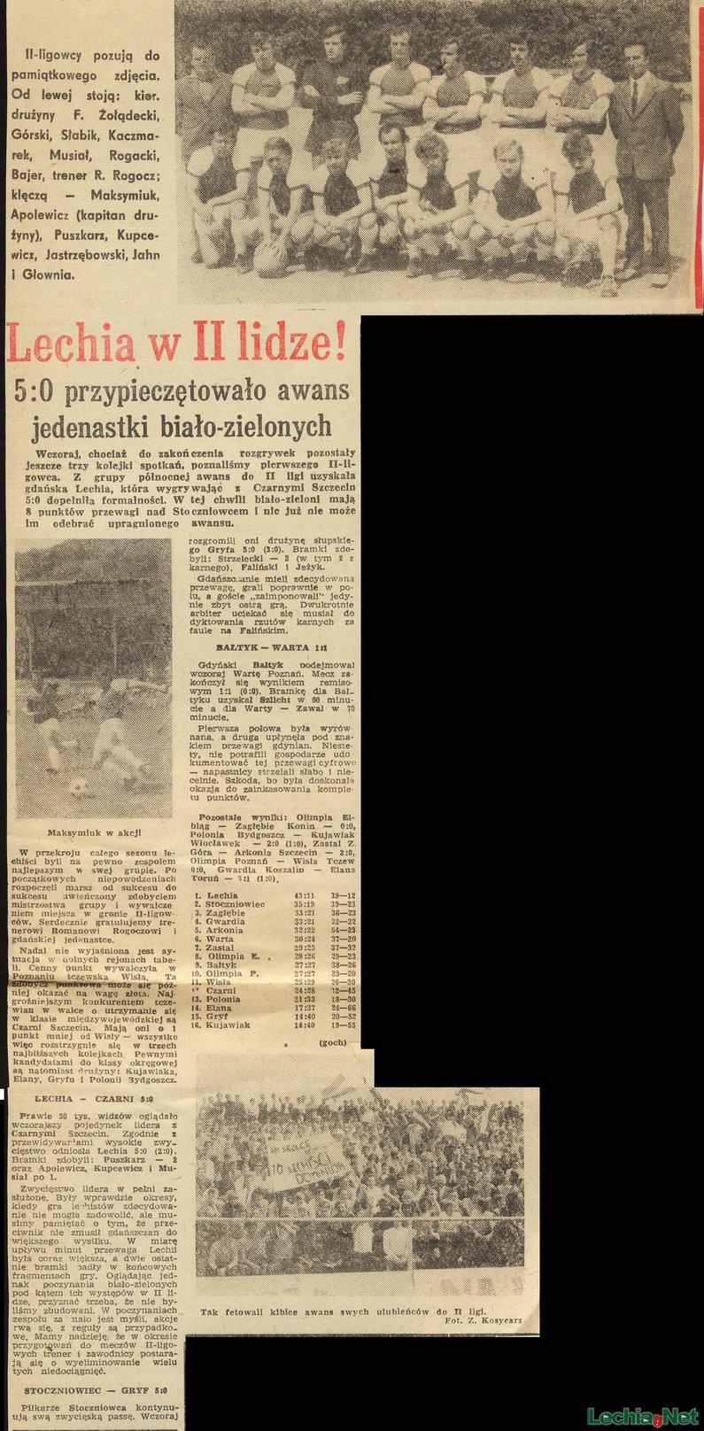 Relacja prasowa z meczu Lechia-Czarni Szczecin