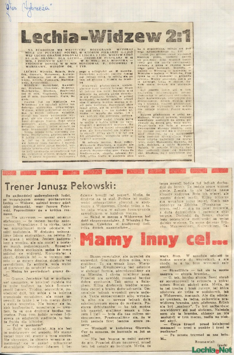 Relacja prasowa z meczu Lechia Gdańsk-Widzew Łódź