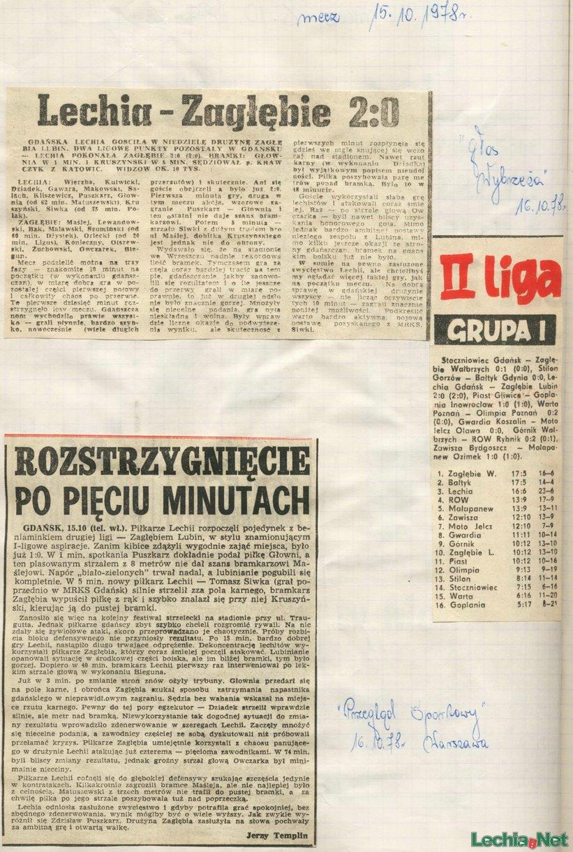 Artykuł prasowy z meczu Lechii
