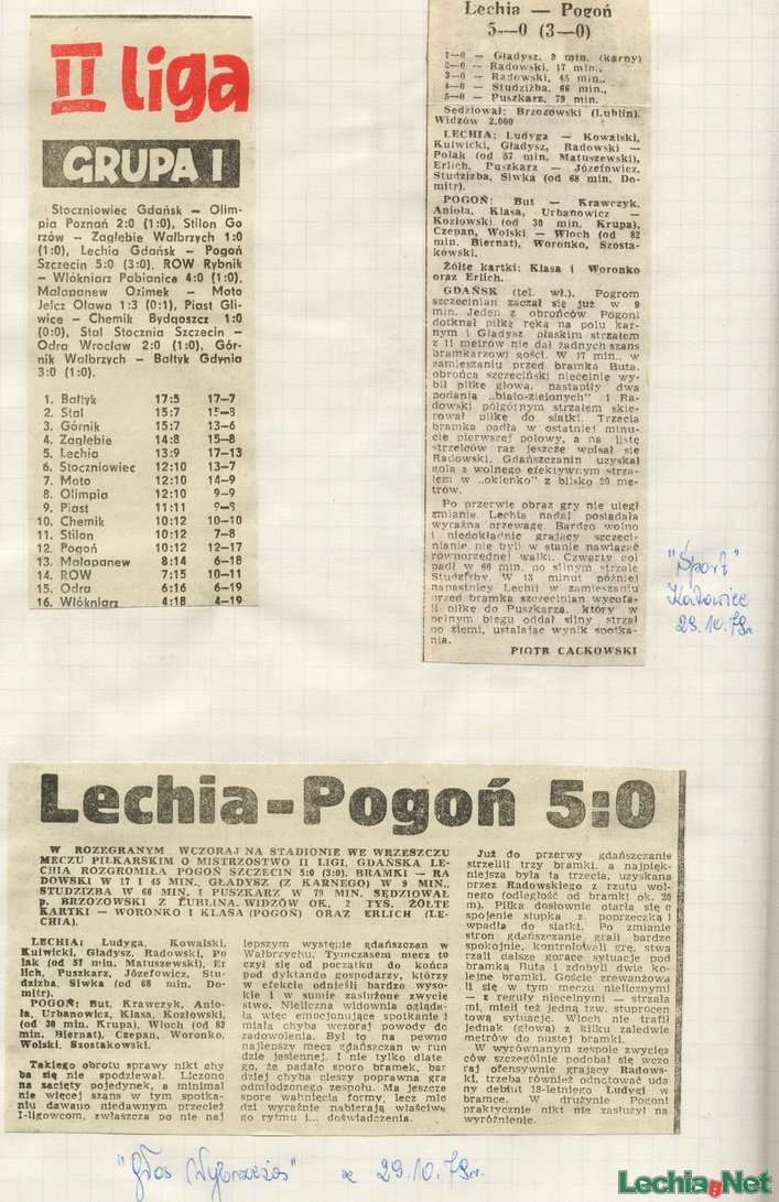 Relacja prasowa z meczu Lechia-Pogoń Szczecin