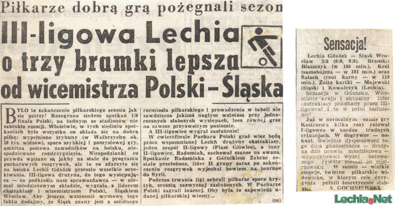 Relacja prasowa z meczu Lechia-Śląsk Wrocław