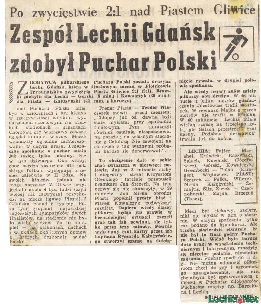 Relacja prasowa z meczu Lechia-Piast Gliwice