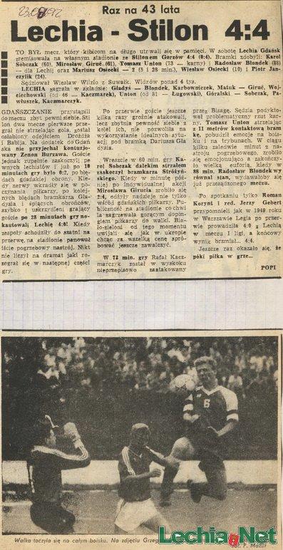 Relacja prasowa z meczu Lechia-Stilon Gorzów