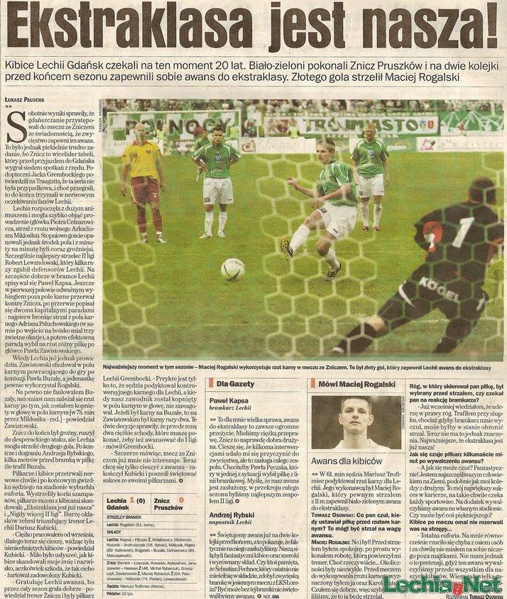 Relacja prasowa z meczu Lechia-Znicz Pruszków
