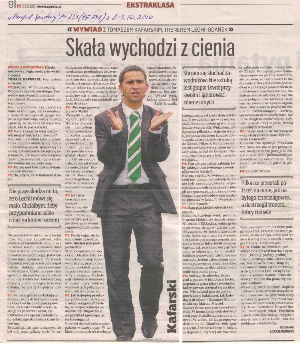 Relacja prasowa z meczu Legia Warszawa-Lechia