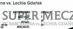 Bilet z sezonu 2013-2014 ze spotkania 2013.07.20.Lechia Gdańsk-FC Barcelona