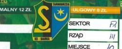 Bilet z sezonu 2013-2014 ze spotkania 2013.08.17.Siarka Tarnobrzeg-Lechia Gdańsk