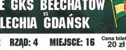 Bilet z sezonu 2014-2015 ze spotkania 2014.09.14.GKS Bełchatów-Lechia Gdańsk