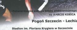 Bilet z sezonu 2014-2015 ze spotkania 2015.05.09.Pogoń Szczecin-Lechia Gdańsk