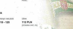 Bilet z sezonu 2015-2016 ze spotkania 2015.07.29.Lechia Gdańsk-Juventus Turyn
