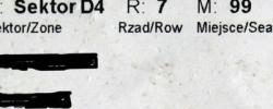 Bilet z sezonu 2015-2016 ze spotkania 2016.05.15.Cracovia-Lechia Gdańsk