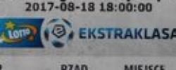 Bilet z sezonu 2017-2018 ze spotkania 2017.08.18.Lechia Gdańsk-Sandecja Nowy Sącz