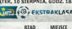 Bilet z sezonu 2018-2019 ze spotkania 2018.08.10.Lechia Gdańsk-Miedź Legnica