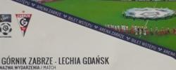Bilet z sezonu 2018-2019 ze spotkania 2018.08.18.Górnik Zabrze-Lechia Gdańsk