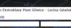 Bilet z sezonu 2018-2019 ze spotkania 2018.10.19.Piast Gliwice-Lechia Gdańsk