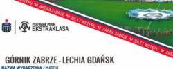 Bilet z sezonu 2020-2021 ze spotkania 2020.09.13.Górnik Zabrze-Lechia Gdańsk