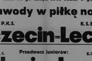 Plakat z sezonu 1946 ze spotkania 1946.05.30 Lechia Gdańsk-PKS Szczecin