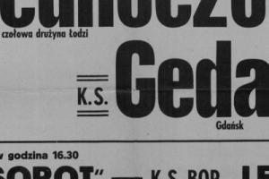 Plakat z sezonu 1946 ze spotkania 1946.06.10 Lechia Gdańsk-KS Sopot