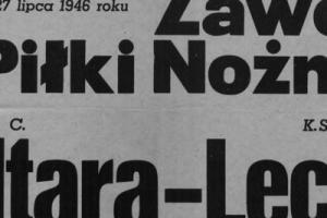 Plakat z sezonu 1946 ze spotkania 1946.07.27 Lechia Gdańsk-Baltara Londyn