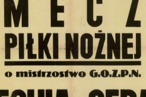Plakat z sezonu 1946 ze spotkania 1946.11.17 Lechia Gdańsk-Gedania Gdańsk