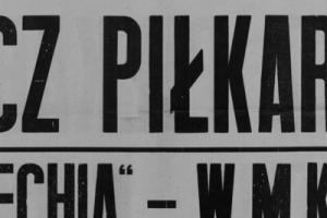 Plakat z sezonu 1947 ze spotkania 1947.05.11 Lechia Gdańsk-WMKS Gdańsk