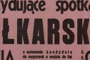 Plakat z sezonu 1947 ze spotkania 1947.06.15 Grom Gdynia-Lechia Gdańsk