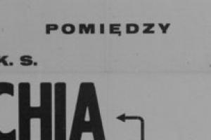 Plakat z sezonu 1947 ze spotkania 1947.09.07 MIR Gdynia-Lechia Gdańsk