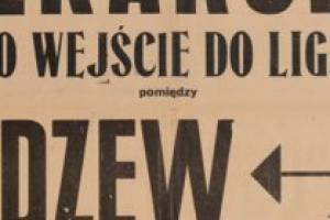 Plakat z sezonu 1947 ze spotkania 1947.10.05 Lechia Gdańsk-Widzew Łódź