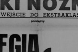 Plakat z sezonu 1947 ze spotkania 1947.11.30 Lechia Gdańsk-Legia Warszawa
