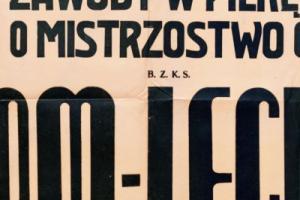 Plakat z sezonu 1948 ze spotkania 1948.05.09 Lechia Gdańsk-Grom Gdynia