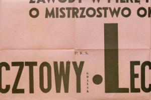 Plakat z sezonu 1948 ze spotkania 1948.05.27 Lechia Gdańsk-PKS Pocztowy Gdańsk