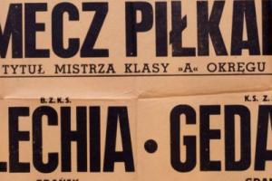 Plakat z sezonu 1948 ze spotkania 1948.06.06 Lechia Gdańsk-Gedania Gdańs