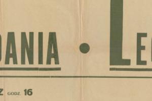 Plakat z sezonu 1948 ze spotkania 1948.06.13 Lechia Gdańsk-Gedania Gdańsk