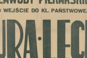 Plakat z sezonu 1948 ze spotkania 1948.07.04 Lechia Gdańsk-Bzura Chodaków