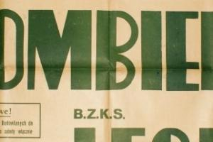 Plakat z sezonu 1948 ze spotkania 948.09.12 Lechia Gdańsk-Szombierki Bytom