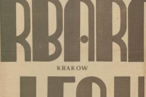 Plakat z sezonu 1948 ze spotkania 1948.10.17 Lechia Gdańsk-Garbarnia Kraków