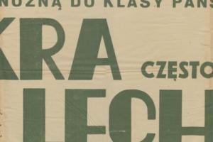 Plakat z sezonu 1948 ze spotkania 1948.10.31 Lechia Gdańsk-Skra Częstochowa